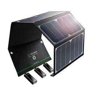 RAVPower 24W Solar Ladegerät mit 3 USB-Ports