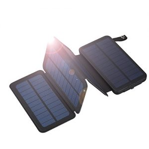 Floureon 10000mAh faltbare Solar Power Bank