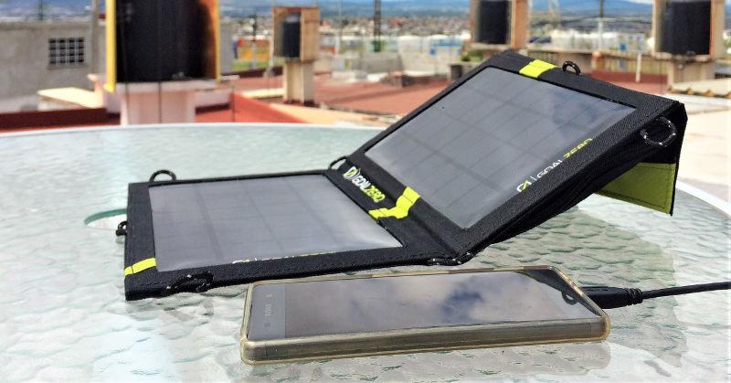 Laden per Solarpanel