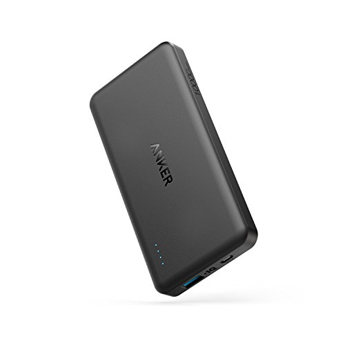 Anker PowerCore II Slim 10000mAh Ultra Dünne Powerbank externer Akku für iPhone X 8 8Plus 7 6s 6Plus, iPad, Samsung Galaxy und weitere Geräte