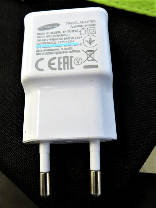 Technische Details eines USB-Netzsteckers