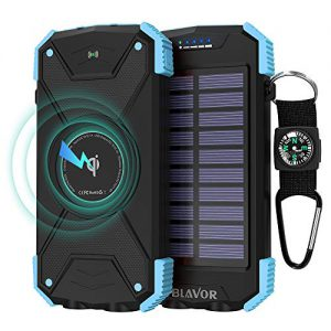 Blavor 10.000mAh Qi Solar Power Bank